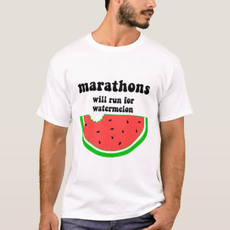 Funny watermelon marathon T-Shirt