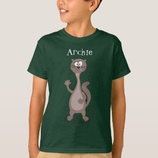 Funny weasel cartoon illustration T-Shirt