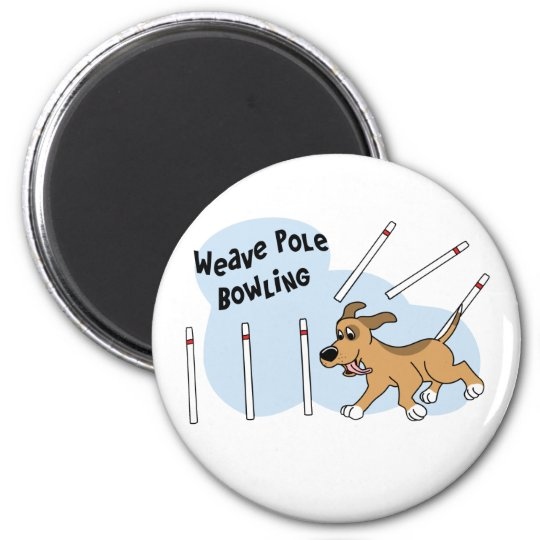 Funny Weave Poles Dog Agility Magnet