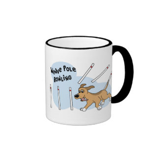 Funny Weave Poles Dog Agility Mug