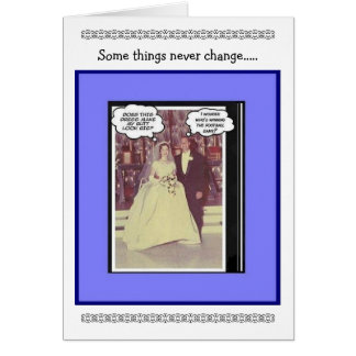 Funny Wedding Anniversary - Vintage Greeting Card