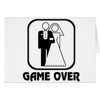 Funny wedding Game Over Greeting Card