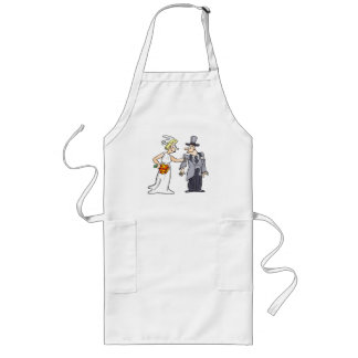Funny Wedding Picture Long Apron
