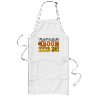 Funny Weddings Parties : Worlds Greatest Groom Long Apron