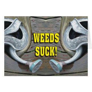 Funny Weeds Suck! Keeping In Touch Card