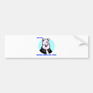 funny weight loss pig cartoon gift car bumper sticker