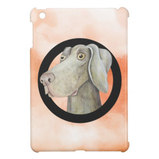 Funny weimaraner dog watercolor painting case for the iPad mini