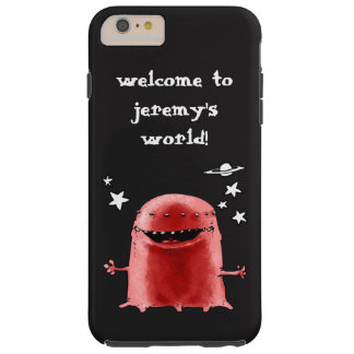 funny weird alien cartoon customizable text tough iPhone 6 plus case