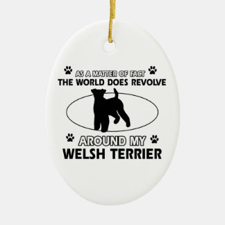 Funny welsh terrier designs christmas ornament