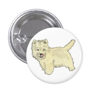 Funny West Highland Terrier novelty art badge