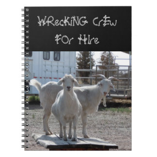 Funny Western Goats for Hire Notebooks