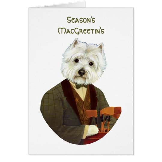 Funny westie Christmas card