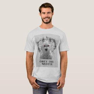 Funny Westie T Shirt - Obey The Westie