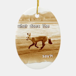 funny what does the fox say christmas ornament