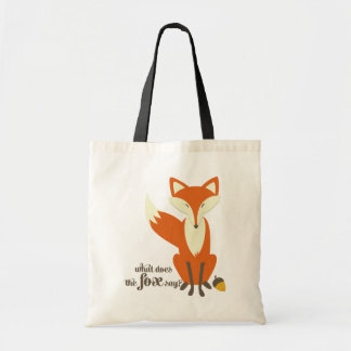 Funny What Does The Fox Say Illustration Bag