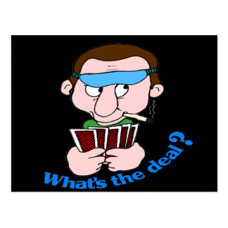 Funny What's The Deal T-shirts Gifts Postcard