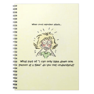 Funny When Court Reporters Attack Spiral Notebooks
