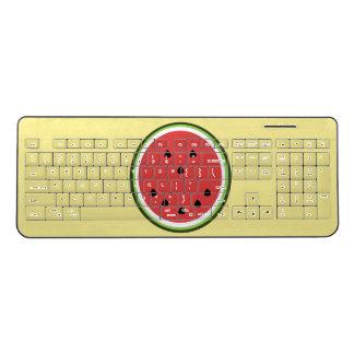 Funny whimsical watermelon wireless keyboard