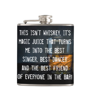 Funny Whiskey Drinkers Slogan Flasks