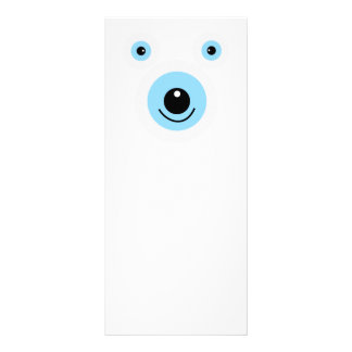 Funny white bear face personalised rack card
