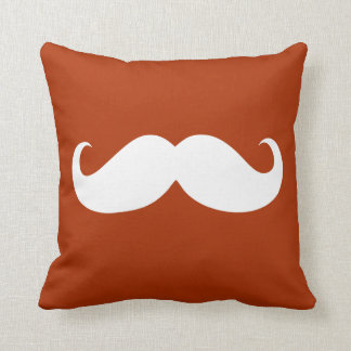 Funny White Mustache 14 Cushion