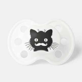 FUNNY WHITE MUSTACHE VINTAGE BLACK CAT DUMMY