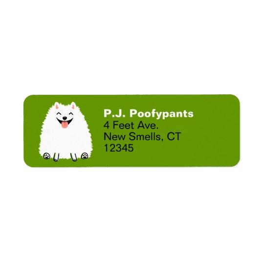 Funny White Pomeranian Cartoon Dog