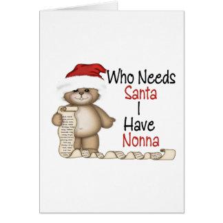 Funny Who Needs Santa Nonna Card