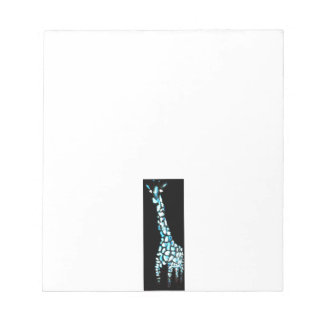 Funny Wild Animal Quirky Abstract Giraffe Notepad