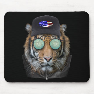 Funny wildlife dressed up Funny Bengal Tiger Mouse Mat