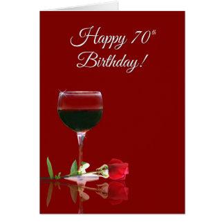 Funny Wine 70th Birthday Card