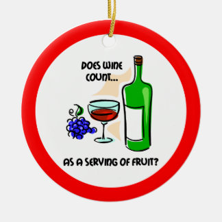 Funny wine christmas ornament
