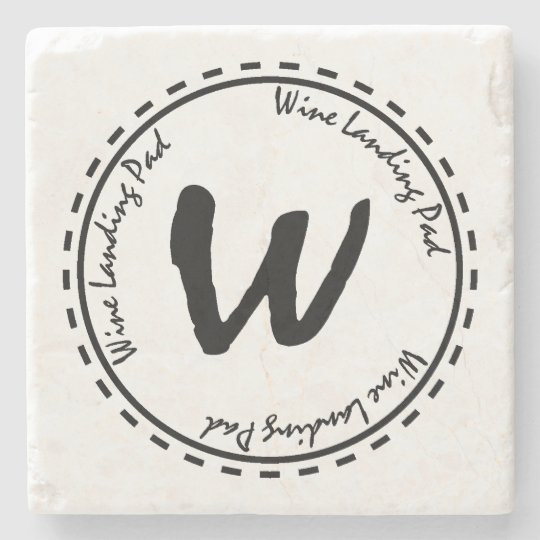 Funny Wine Glass Landing Pad Stone Coaster