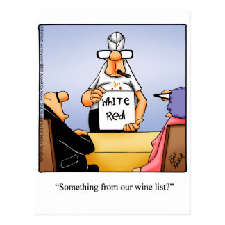 Funny Wine Humor Postcard