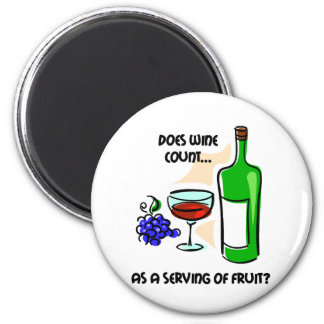 Funny wine humor saying 6 cm round magnet