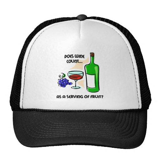 Funny wine humor saying hat