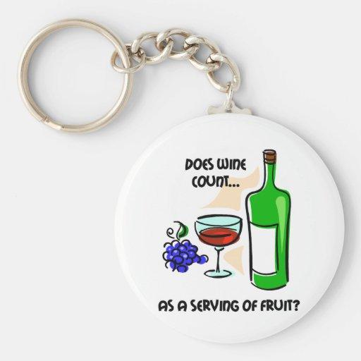 Funny wine humor saying keychains