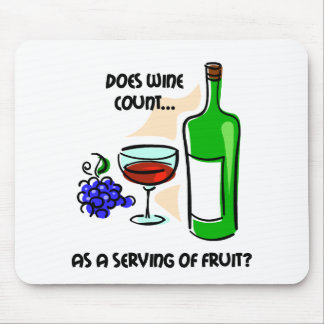 Funny wine humor saying mouse mat