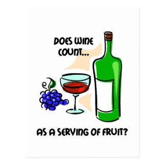 Funny wine humor saying postcard