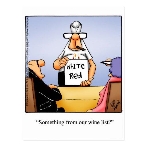 Funny Wine Humour Postcard