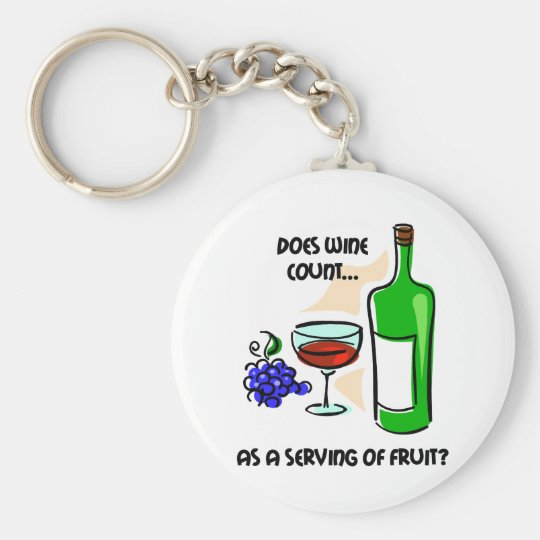Funny wine humour saying basic round button key ring