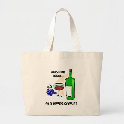 Funny wine humour saying jumbo tote bag