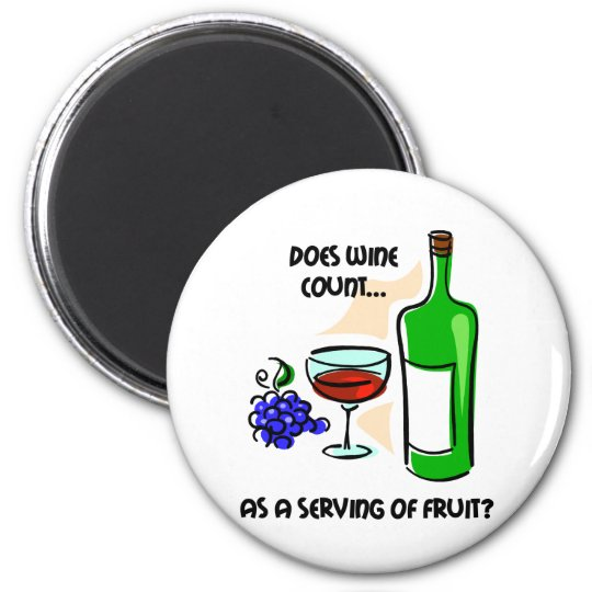 Funny wine humour saying magnet