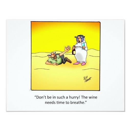 Funny Wine Invitation! 11 Cm X 14 Cm Invitation Card