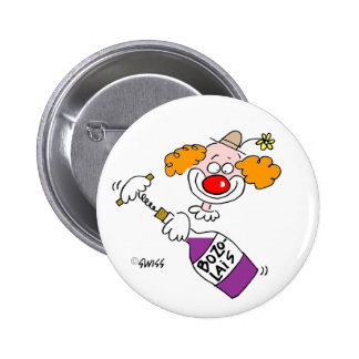 Funny Wine Party Favor Buttons
