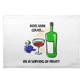funny wine placemat