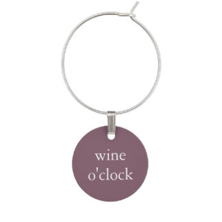 Funny Wine Saying - Wine O'Clock Wine Charm