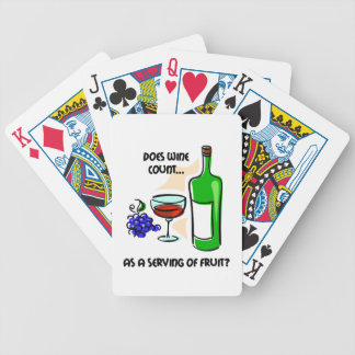funny wine tasting bicycle playing cards