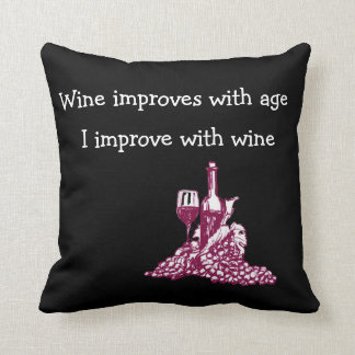 Funny Wine Theme Cushion