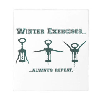 Funny Winter Exercises Notepad